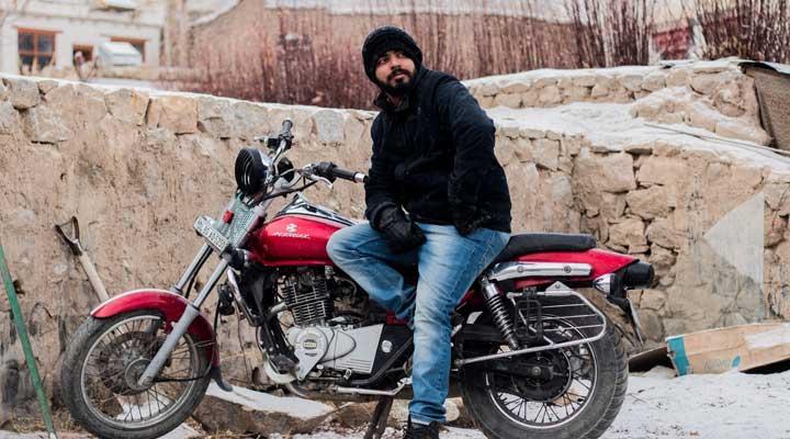 バイク-冬